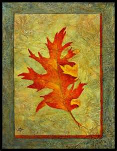 Acrylic Painting Fall Leaves