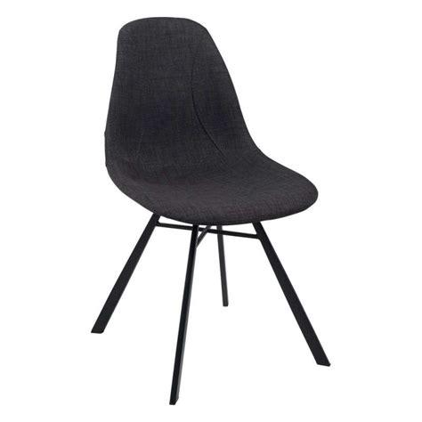 chaise grise tissu chaise coque en tissu et métal tulipe 4 pieds tables