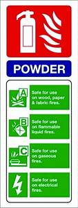 Dry Powder Extinguisher PPE Sign, Fire Equipment Signs ...