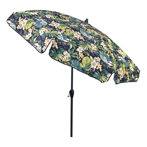 plantation patterns 7 5 ft aluminum patio umbrella in