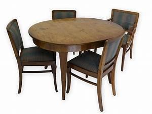 tischgruppe tisch 4 st hle esszimmertisch antik art deco With tisch stühle