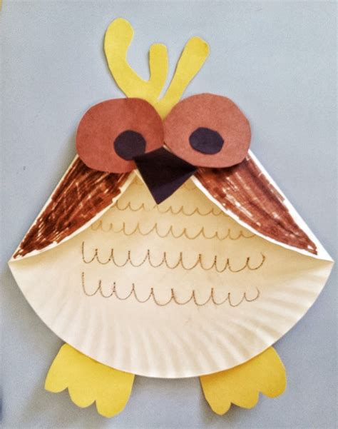 fun activities  kids paper plate owl craft