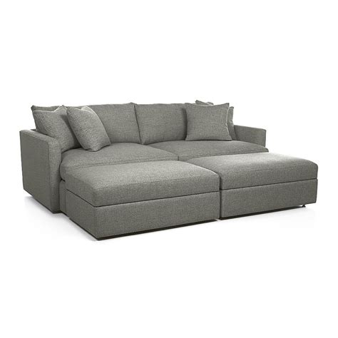 crate and barrel lounge sofa ottoman lounge ii 93 quot sofa crate and barrel gianni 39 s hangout