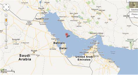 Persian Gulf World Map