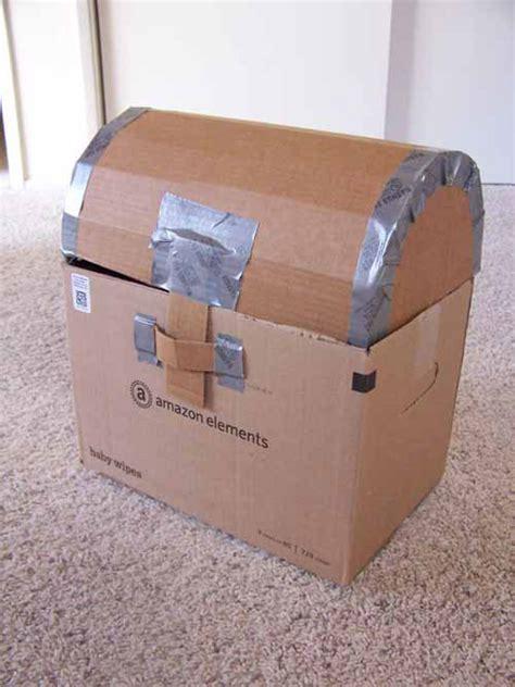 pirate week day  cardboard treasure chest tutorial