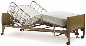 Semi Electric Hospital Bed With Bed Rails And Mattress