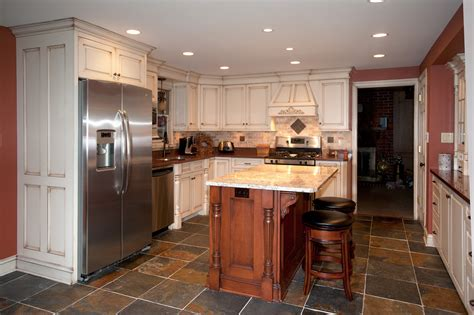 painted kitchen  accent island custom cabinetry  ken leech