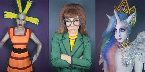 Drag Queen Turns Herself Into 90s Cartoon Characters Using