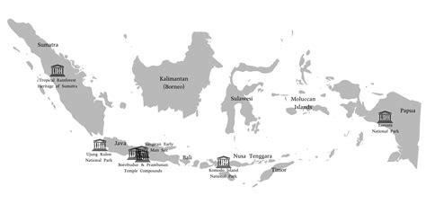 world heritage indonesia mapsofnet