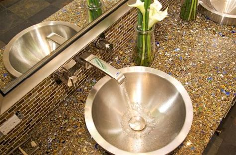 Recycled Glass Bathroom Countertops by Interior Design Ideas That Are Environmentally Friendly