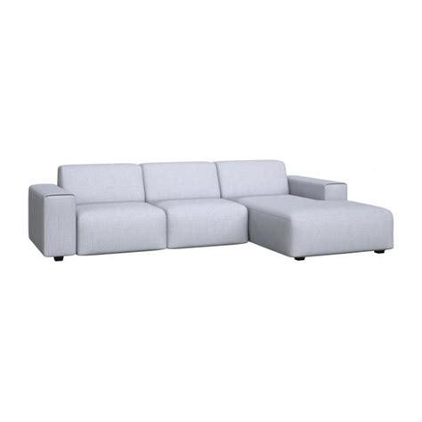 canapé sky posada canapé 3 places avec méridienne droite en tissu
