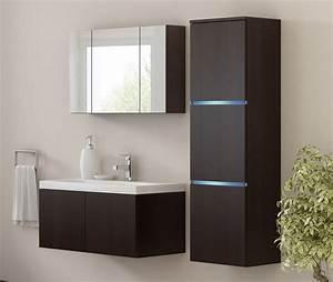 Badezimmer Spiegelschrank Led : kaufexpert badm bel set werner xxl 1 wenge keramik waschbecken badezimmer led beleuchtung ~ Indierocktalk.com Haus und Dekorationen