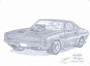 1969 Dodge Charger Drawing At Getdrawings