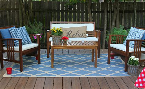 fresh blue deck furniture design ideas for relaxing