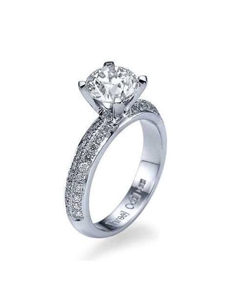 white gold knife edge pave 2 row vintage engagement rings without shiree odiz