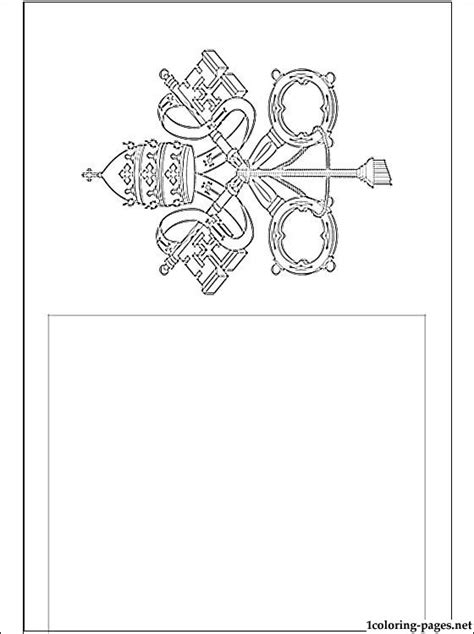 Vatican Flag Coloring Page  Coloring Pages