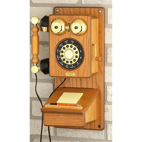 nostalgic wood kitchen phone  coins collectibles