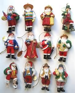 danbury mint the santas around the world christmas porcelain ornaments s 12 figurines