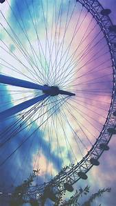 Ferris Wheel Pastel Sky iPhone 6 Wallpaper [..click for ...