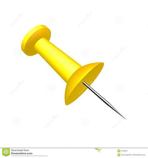 punaise de bureau rendez d 39 une punaise bleue jaune de bureau illustration