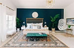 Meuble Bleu Canard : chambre mur bleu canard super d co ~ Teatrodelosmanantiales.com Idées de Décoration
