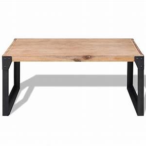 Table En Acacia : acheter vidaxl table basse bois d 39 acacia massif 100 x 60 x 45 cm pas cher ~ Teatrodelosmanantiales.com Idées de Décoration