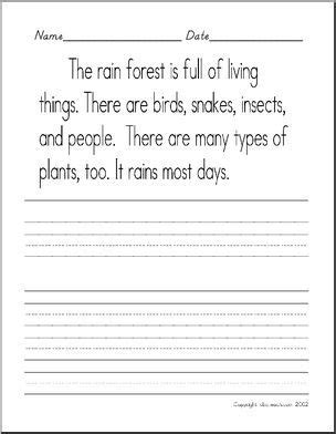 handwriting practice rain forest manuscript zb style