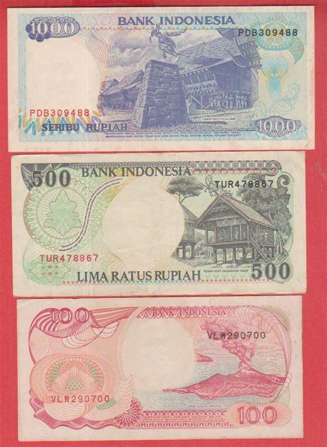 jual a 691 3 lembar uang kertas indonesia 100 500 1000 tahun 1992 untuk koleksi asli kuno hadiah