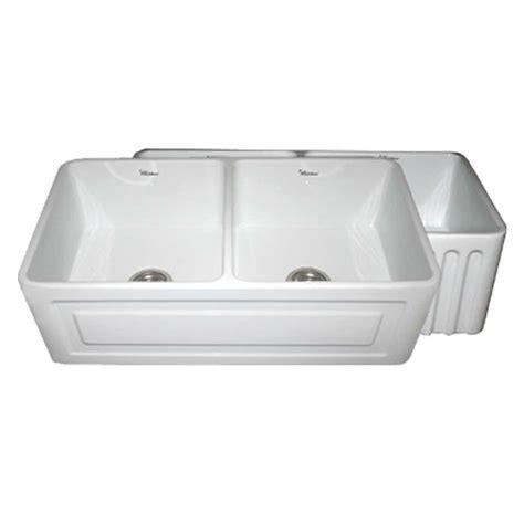 white apron front sink whitehaus collection quatro alcove reversible farmhaus