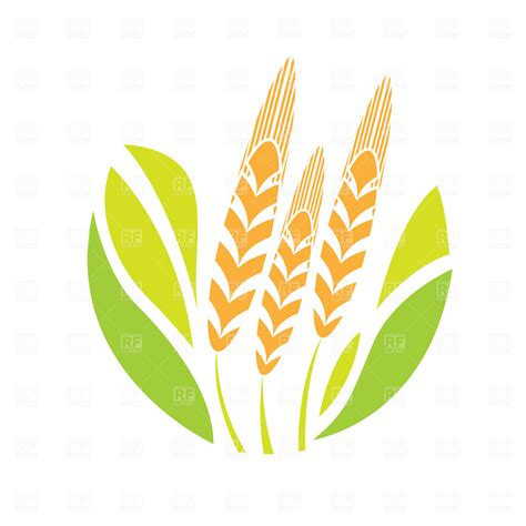 free vector clipart agriculture emblem vector image vector artwork of plants