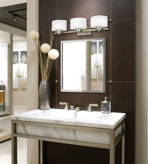 great bathroom lighting fixtures  brushed nickel