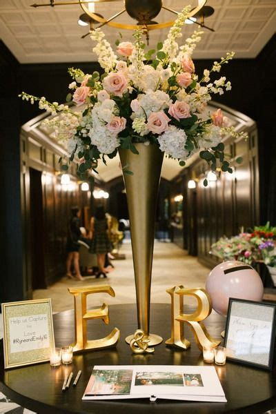 chic downtown ta wedding initials receptions and guest books