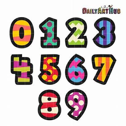 Numbers Clip Cartoony Clipart Cartoons Number Cartoon