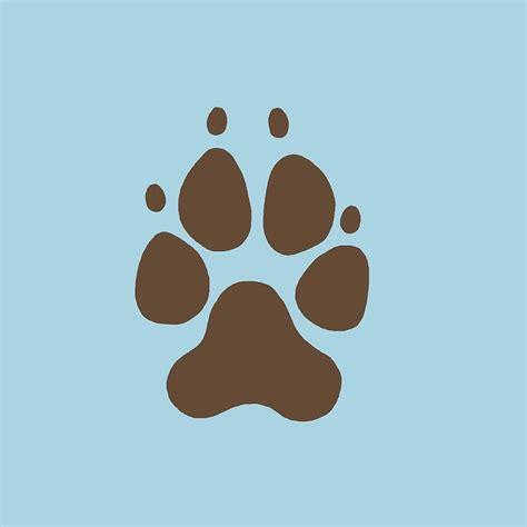 dog paw prints stencil dog paws stencil design  walls