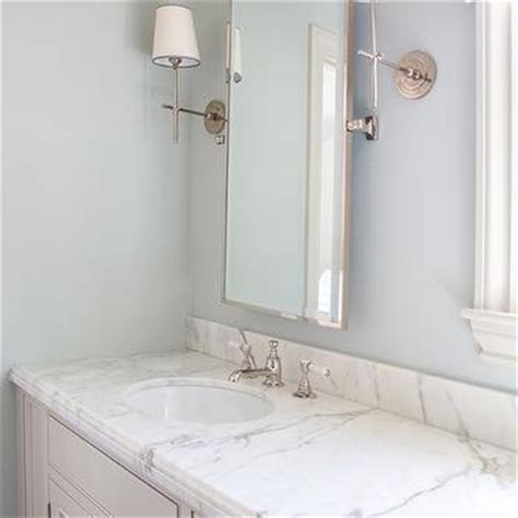Light Blue Bathroom Ideas by White And Gray Bathroom With Blue And Gray Rug