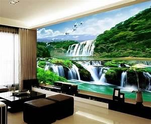 3D Wallpaper Bedroom Mural Roll Landscape Waterfall Modern ...