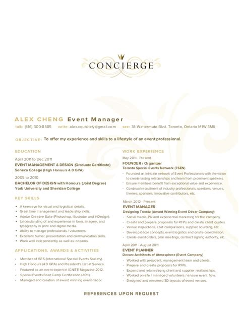 residential concierge resume sle 28 images