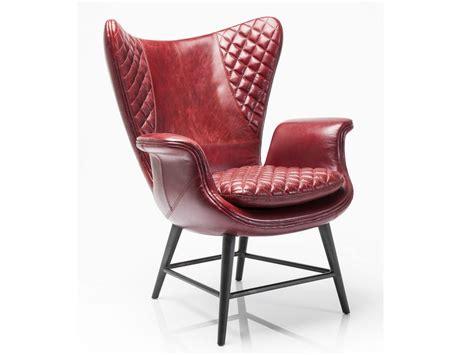 Poltrona In Pelle Con Braccioli Tudor Velvet By Kare-design