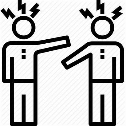 Conflict Icon Management Quarrel Team Business Workgroup