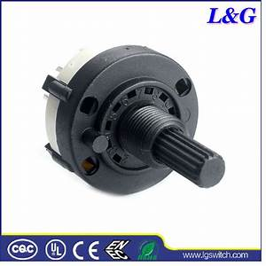 China 2 Pole 6 Position Panel Pcb Wiring Rotary Switch