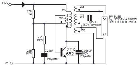 Fluorescent Lamp Inverter Based Ztx Circuit Schematic