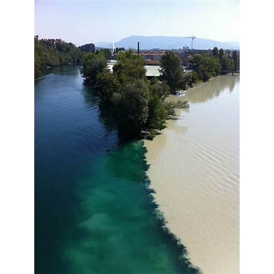 Confluence of Rhone and Arve rivers GenevaUnusual Places
