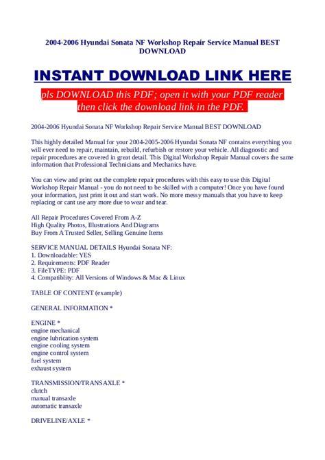 service repair manual free download 1992 hyundai elantra auto manual 2004 2006 hyundai sonata nf workshop repair service manual best downl