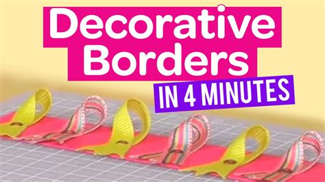 create decorative borders   minutes youtube