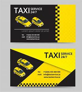 Taxi service business card template vector vector for Taxi business cards templates free download