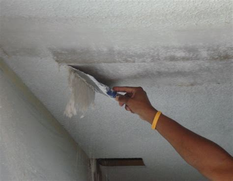 Scraping Popcorn Ceilings While by How Do I Remove Popcorn Ceiling Texture Dukes Painting