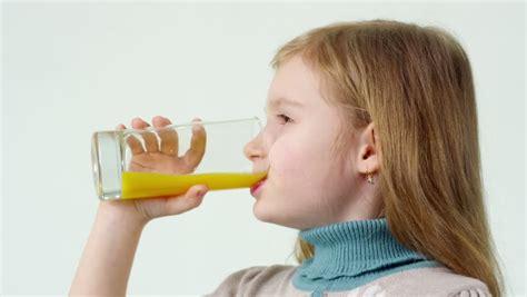 Kid Drink Orange Juice Stock Footage Video 9214259