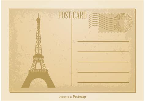 vintage postcard vector   vector art stock