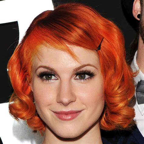 Short Bright Orange Hair Hayley Williams Hair Photo