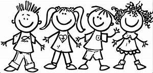 Child clipart black and white - Pencil and in color child ...